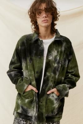 BDG Tie-Dye Corduroy Chore Jacket - Assorted S at Urban Outfitters