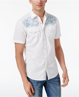 INC International Concepts Men's Embroidered Snap-Closure Cotton Shirt, Created for Macy's