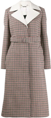 Chloé Check Belted Buttoned Coat