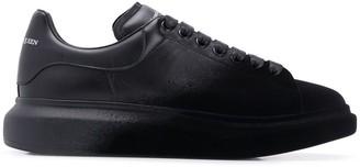 Alexander McQueen velvet front sneakers