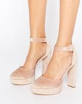 New Look Velvet Two Part Platform Heeled Shoes