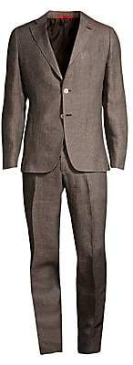 Isaia Men's Delave Solid Linen Single-Breasted Suit
