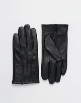 Dents Aviemore Touch Leather Gloves - Black