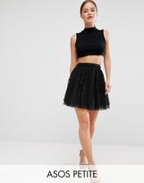 Asos Mini Tulle Prom Skirt in Flocked Polka Dot