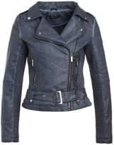 Morgan Faux leather jacket bleu jean