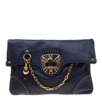 Alexander McQueen Blue Leather Clutch bags