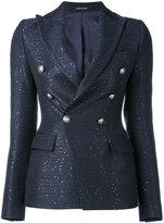 Tagliatore contrast blazer - women - Cotton/Acrylic/Polyester/Viscose - 40