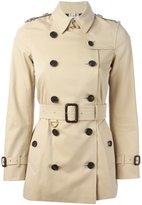 Burberry 'Kensington' short trench coat - women - Cotton/Viscose - 6