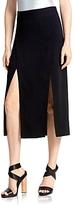 Halston Double Slit Midi Skirt