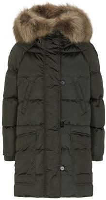 Max Mara Reversible Fox Fur Trim Coat