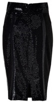 L'Wren Scott L\'Wren Scott Black Silk Mesh Embroidered Pencil Skirt
