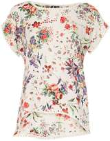 Izabel London *Izabel London Multi White Floral Blouse