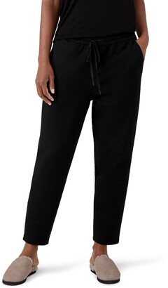 Eileen Fisher Slouchy Tie Waist Ankle Pants