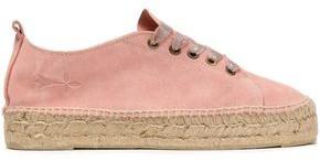 Manebi Hamptons Lurex-trimmed Suede Espadrille Sneakers