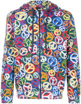 Love Moschino peace sign printed hoodie - men - Cotton - S