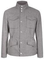 Brunello Cucinelli Detachable Hood Check Print Jacket