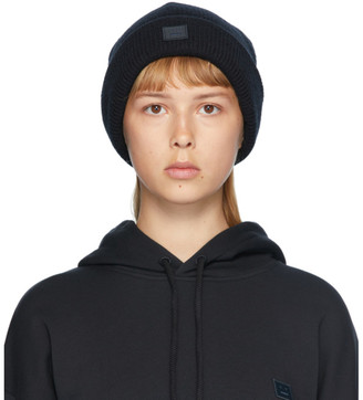 Acne Studios Black Patch Beanie