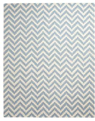Pottery Barn Teen Chevron Wool Rug, 5'x8', Peri Blue