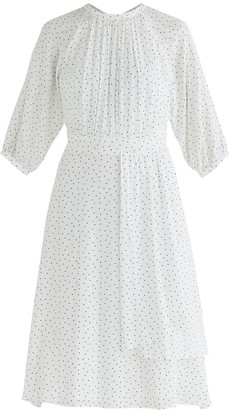Paisie Bond Polka Dot Midi Dress In White & Black
