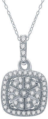 Ever Star Womens 1/4 CT. T.W. Lab Grown Diamond Sterling Silver Pendant Necklace Family