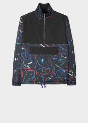 Men's 'Climbing Rope' Photo Print Reversible Jacket