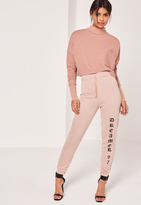 Missguided Logo Joggers Nude