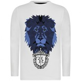 Billionaire BillionaireBoys White Long Sleeve Royal Mind Top