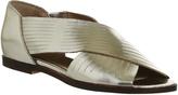 Office Deadline Peep Toe Flat Sandals