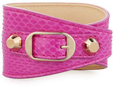 Balenciaga Classic Snakeskin Wrap Bracelet