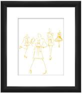 "PTM Images Runway Pose III Black Framed Giclee Print - 14\"" x 16\"""