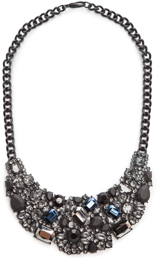 MANGO Matt stones bib necklace