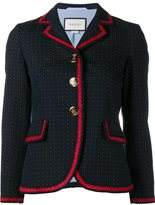 Gucci polka dot blazer - women - Cotton/Wool/Viscose/Acrylic - 36