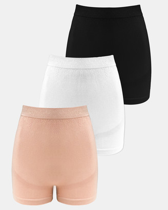 B Free Intimate Apparel - Women's Neutrals High Waisted Briefs - 3-Pack Maternity Boyleg Shorts - Size One Size, 10 at The Iconic