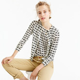 J.Crew Lightweight wool Jackie cardigan sweater in bow print