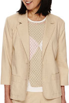 Alfred Dunner Classic 3/4-Sleeve Jacket