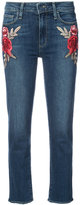 Paige embroidered flower skinny jeans - women - Cotton/Polyester/Spandex/Elastane - 24