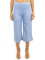 West Coast Wardrobe Michaela Wide Leg Crop Pant in Denim