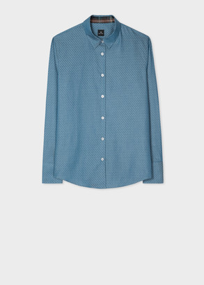 Paul Smith Women's Polka Dot Chambray Cotton Shirt
