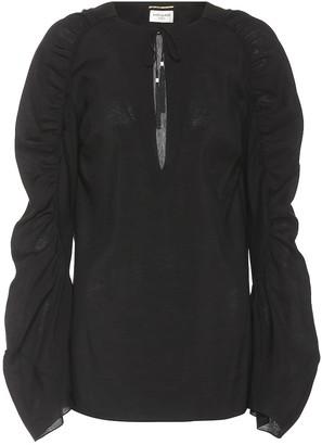 Saint Laurent Tassel-trimmed blouse