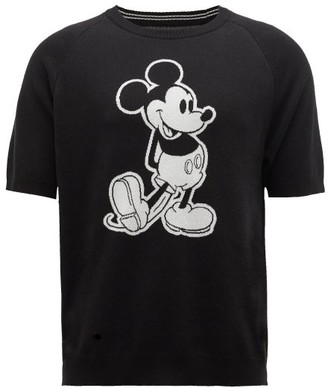 TAKAHIROMIYASHITA TheSoloist. Mickey Mouse-intarsia Cotton Sweater - Black