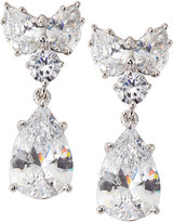 FANTASIA Cluster-Top Pear-Drop CZ Earrings