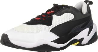 Puma Men's Thunder Sneaker Black Black White 10 M US