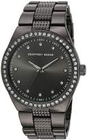Geoffrey Beene Men's Quartz Metal and Alloy Dress Watch, Color:Black (Model: GB8118GU)