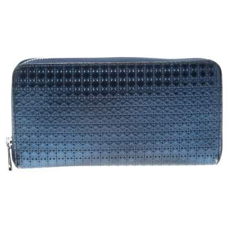Christian Dior Lady Blue Patent leather Wallets