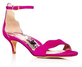 Marion Parke Women's Raven Scalloped Kitten-Heel Sandals