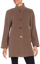 Cinzia Rocca Wool-Blend Mockneck Car Coat