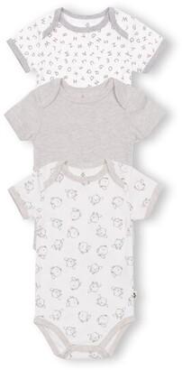 Gertex Dream Short Sleeve Bodysuit 3 Pack - Newborn - Grey