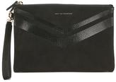 WANT Les Essentiels Women's Barajas Zip Folio Black Nubuck Stripe