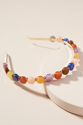 Anthropologie Judy Rainbow Drop Headband By in Pink Size ALL