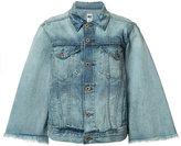 NSF flared sleeve denim jacket - women - Cotton - S